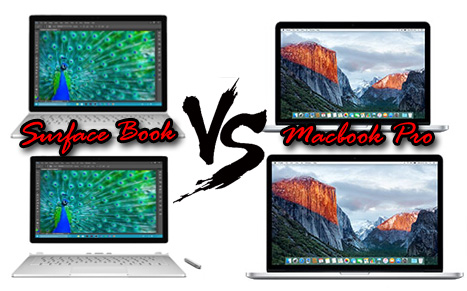 Surface Book vs Macbook Pro