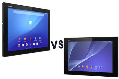 Xperia Z4 TabletとXperia Z2 Tabletの違い