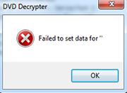 DVD Decrypter 終了 エラー