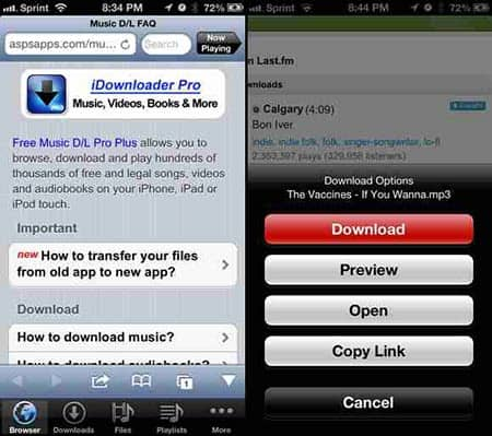 apps for downloading free music iphone
