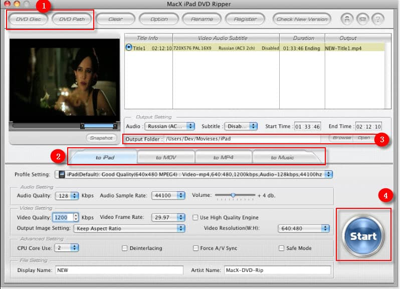 MacX iPad DVD Video Converter Pack Screenshot