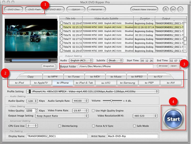 User Guide of MacX DVD Ripper Pro – How to Backup and Rip DVD on Mac