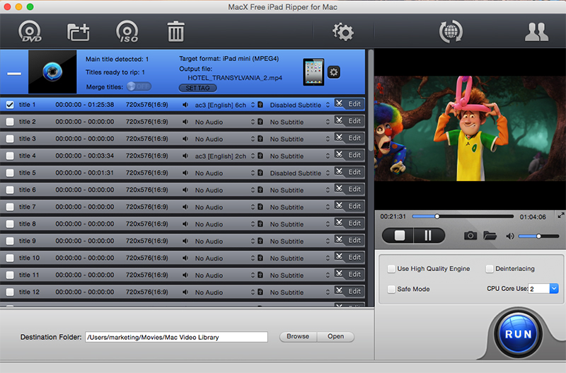 Click to View Full ScreenshotMacX Free iPad Ripper for Mac 4.1.4 screenshot