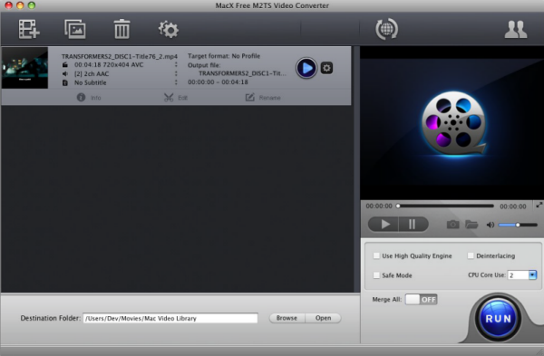 Free download MacX Free M2TS Video Converter