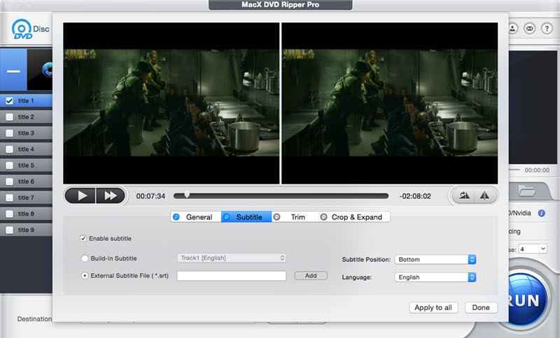 How to Hardcode Or Add Force/Soft Subtitles to DVD Movies