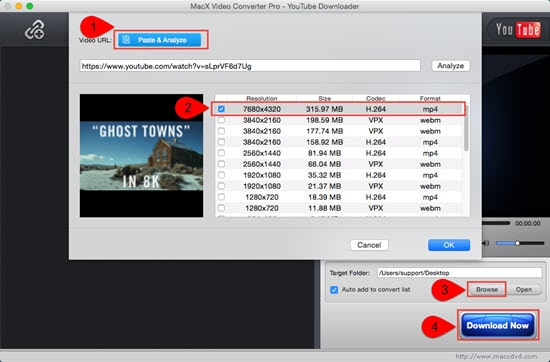 8K video download free from YouTube