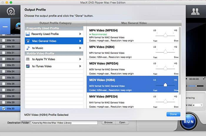 How to Rip DVD to QuickTime MOV Free on Mac