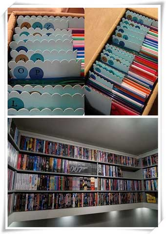 Dvd storage ideas to store thousands of dvds in small place - Unique dvd storage ideas ...