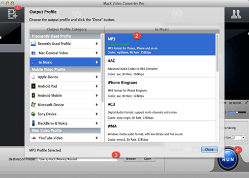 How to extract audio from youtube to aac for mac