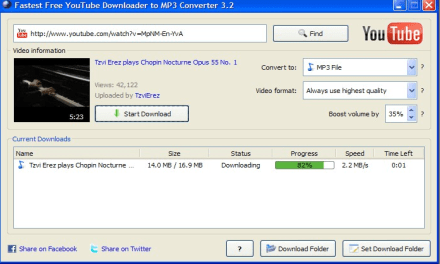 fastest free youtube downloader mp3 converter online