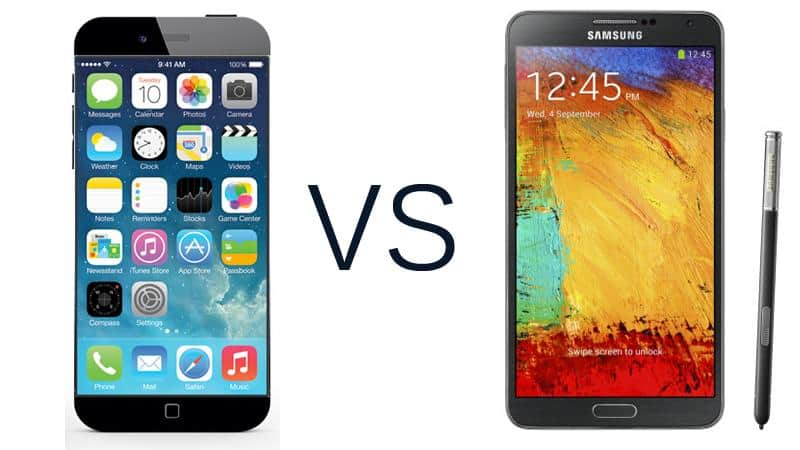 Apple iPhone 6 vs Samsung Galaxy Note 4: Specs, Features ...  Iphone