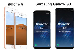 IPhone 8 Vs Galaxy S8 Display
