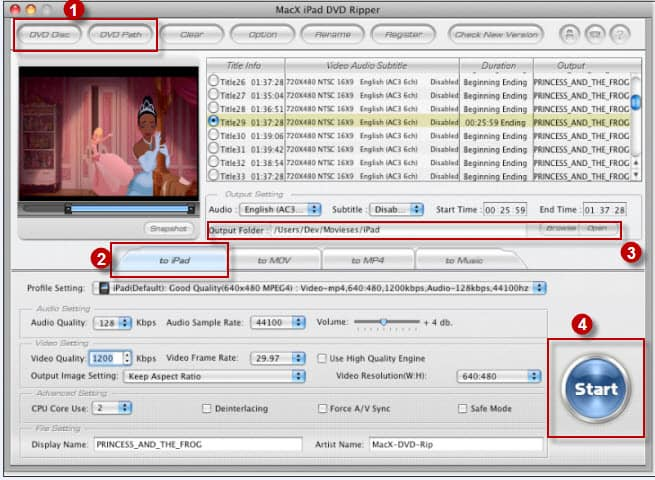 How to transfer DVD to iPad/iPad 2 on Mac