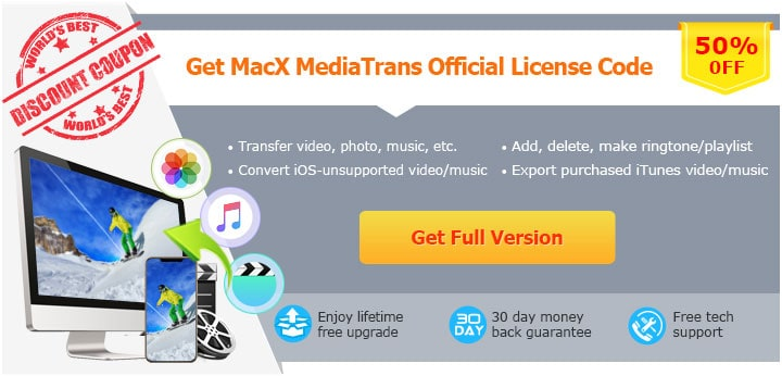 Register MacX MediaTrans with License Code