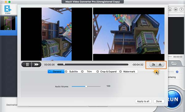 how to rotate a video in iMovie HD alternative