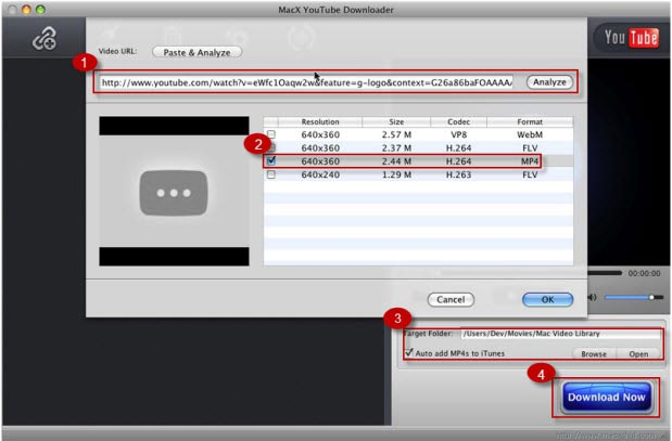 How to download youtube videos on mac with slightest efforts how to download 720p1080p4k ultra hd youtube videos on mac step ccuart Gallery