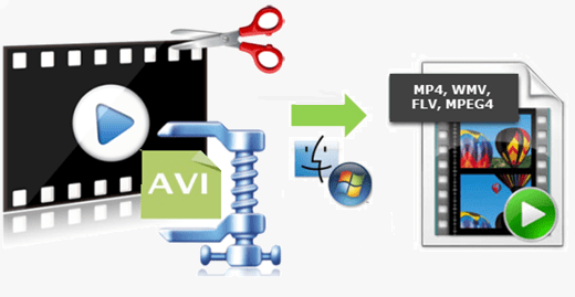 compress large avi file to smaller size without losing quality