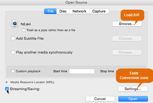 convert vob to mp4 mac vlc