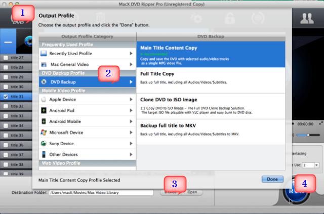 Converti DVD in iPhone, iPad, iPod, Apple TV