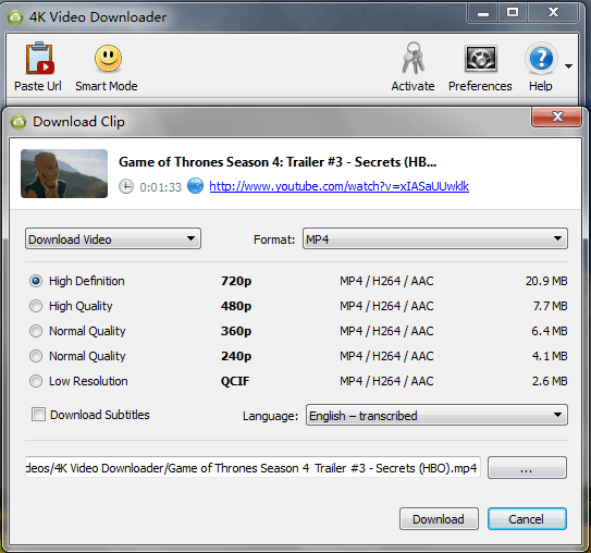 ... YouTube Video Downloader for 4k on Mac - 4K Video Downloader