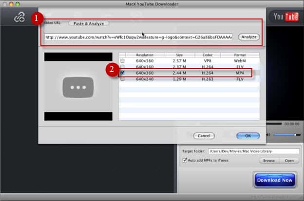 Download from youtube mac