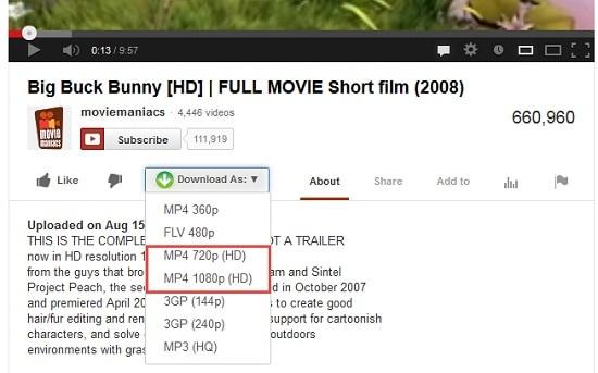 YouTubeの動画を高解像度(720p,1080p)で再生させ …