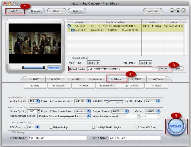 how to add audio to your imvoie on mac