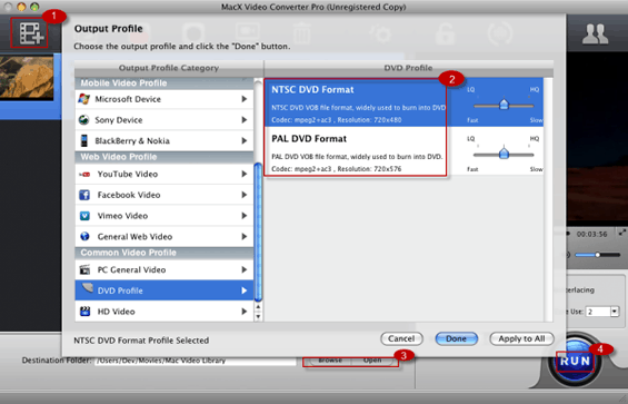 How to Convert MP4 to DVD VOB on Mac OS for DVD Player or Burning
