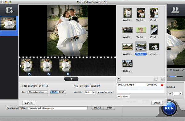 make wedding photo slideshow on mac