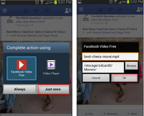 how to stop a video download on android phone