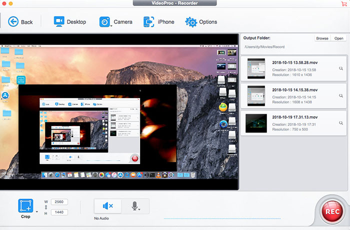 how to video record on mac