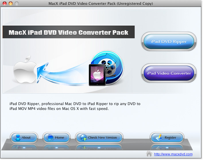 Mac iPad converter, Mac iPad DVD ripper, rip DVD to iPad Mac, Mac convert video to iPad
