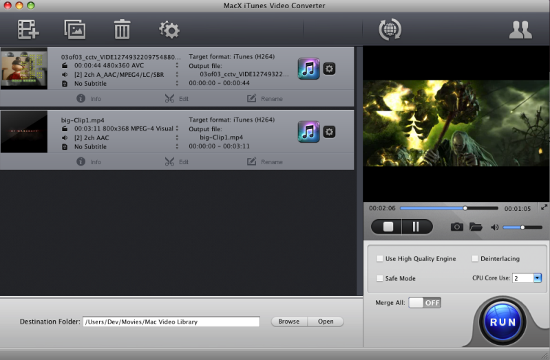 how to send itunes video to chromecast
