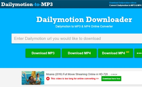 convert dailymotion to mp4