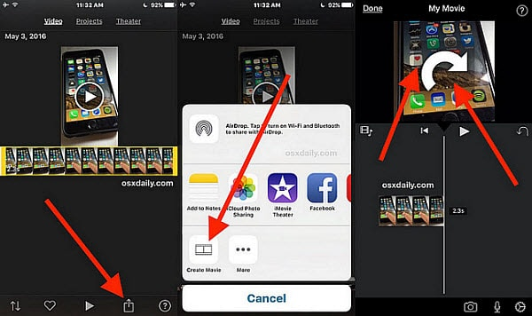 how to get an imovie from mac to iphone