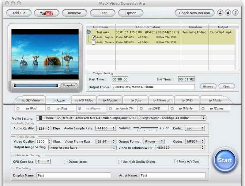 MacX Video Converter Giveaway Version screenshot