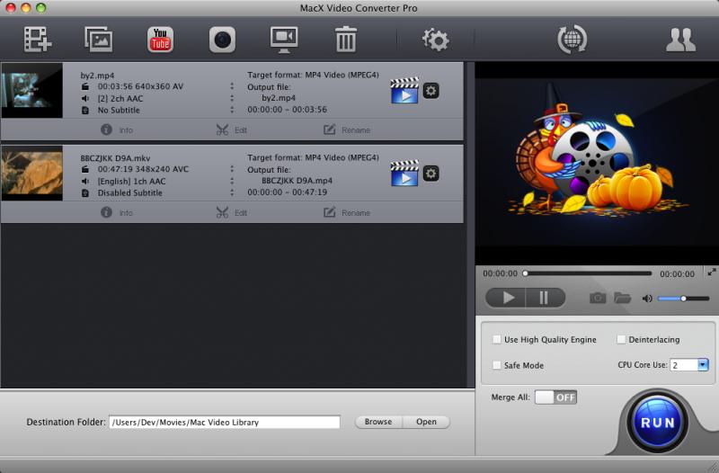 MacX Video Converter for Thanksgiving screenshot