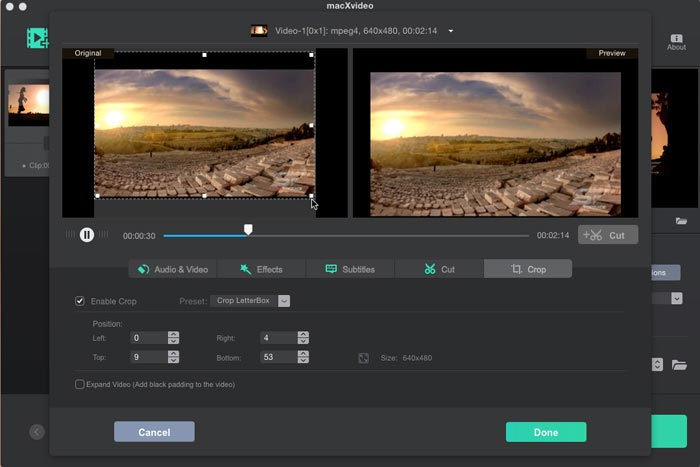 Crop Video on Mac for Free