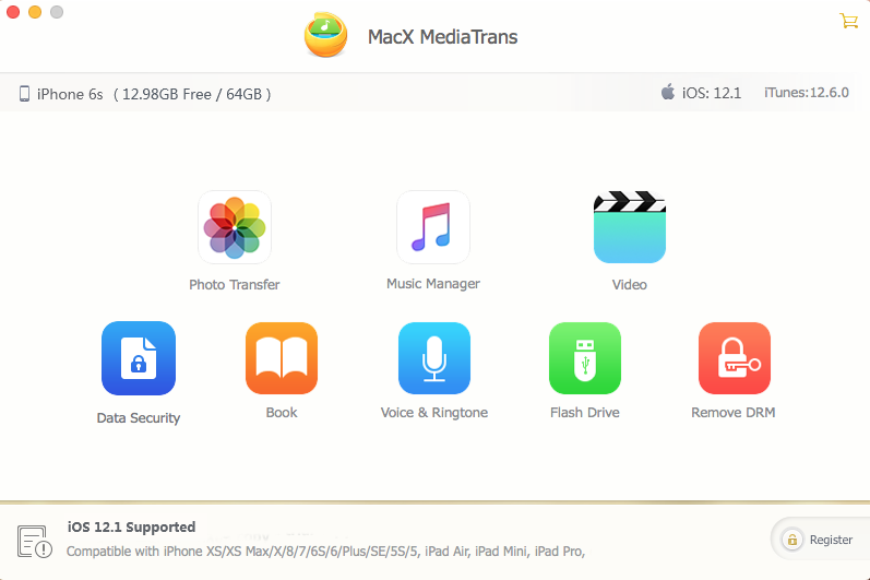 MacX MediaTrans can help Mac users to transfer photos, videos and music between iPhone and Mac quickly. Uniquely delete any photos from iPhone and decode iTunes purchases. It also can turn iPhone into USB to store files. Best alternative to iTunes.