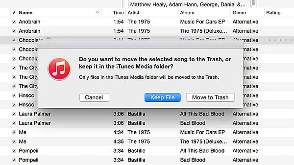 How do you remove songs from an iPod?