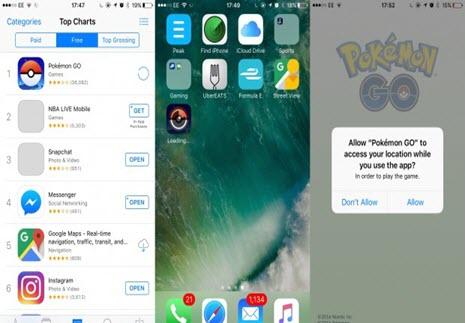 Pokemon Go download on iPhone