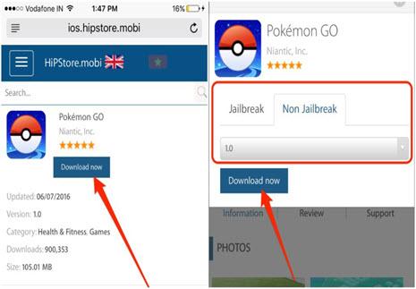 Pokemon Go download on iPhone Jailbreaking