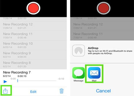 how to download voice memos to itunes